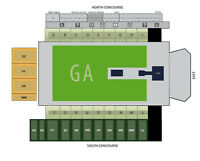 2 TICKETS AEROSMITH Section N - look at the attached venue map