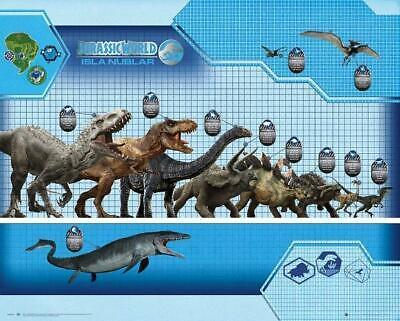 Size Chart Jurassic World Mini Poster 50cm x 40cm new and sealed