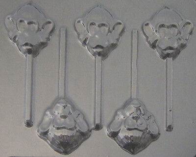 Monkey Head Chocolate Lollipop Candy Mold 611