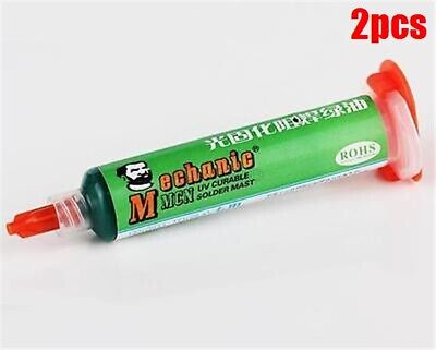 2pcs 10ml Pcb Uv Curable Solder Mask Repairing Paint Green On