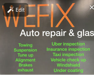 Wefix ltd    auto repair, glass, towing service, suspension,