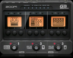 Zoom G3 Muti effects pedal.