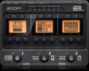 Zoom G3  Effects pedal / Di