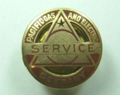 14K Gold Early Logo Pacific Gas and Electric Service Pin by Shreve - #1865 PG&E