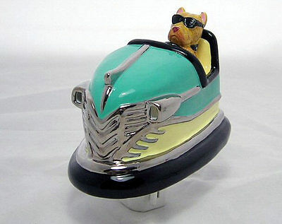 """Bumper Bowser"" Retro Bumper Car Pit Bull Ceramic 3D Night Light Swivel Plug"