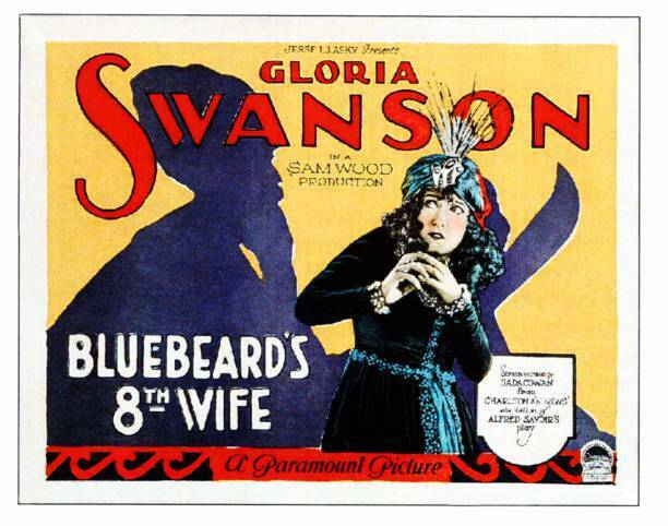 OLD MOVIE PRINT Bluebeards 8Th Wife Lobby Card Gloria Swanson
