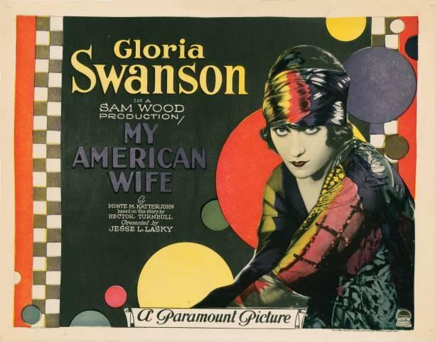 OLD MOVIE PHOTO My American Wife Lobby Card Gloria Swanson 1922