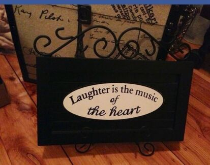 Laughter is the music of the heart sign with stand Kingswood 2747 Penrith Area Preview
