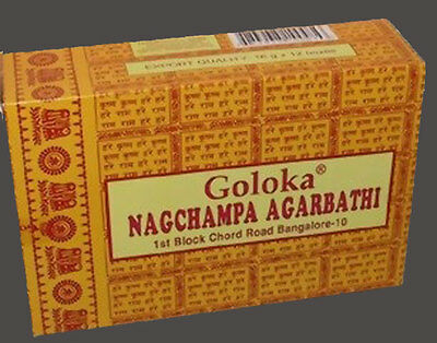 +++ GROSSPACKUNG Goloka Nagchampa 12x16g Räucherstäbchen  Nag Champa +++