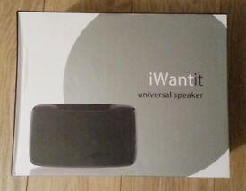 Brand new, sealed iWantit Universal Portable Speaker