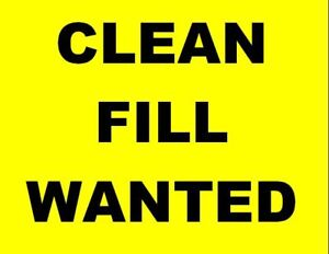 Clean Fill Wanted neat Grand Point