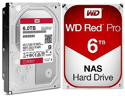 WD Red Pro 6TB NAS Desktop Hard Drive Intellipower 6 GBs 128 MB Cache WD6002FFWX