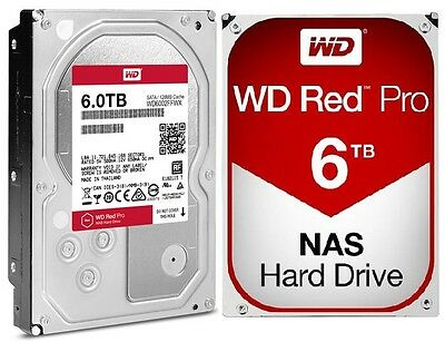 Nas Drive - WD Red Pro 6TB NAS Desktop Hard Drive Intellipower 6 GBs 128 MB Cache WD6002FFWX