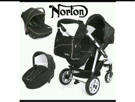 Norton storm travel system, push chair, carrycot and car seat RRP £550