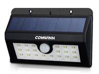 Comwinn 3-in-1 Wireless Weatherproof Security Solar Light Motion Sensor Lamp with 3 Intelligent Mode