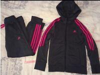 Girls Adidas Tracksuit Age 7-8