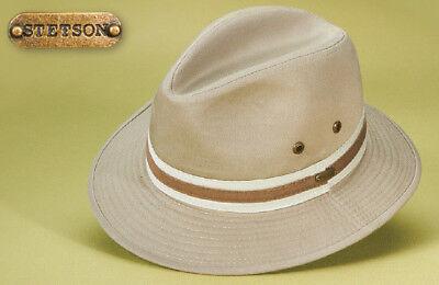 Golf Fedora (STETSON * NEW MEN FEDORA HAT * L * COTTON TWILL SAFARI GOLF RAIN SUN FISHING UPF)