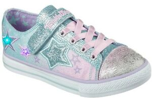 GIRLS SZ 11- SKECHERS-  TWINKLE WISHES LIGHT UP/MUSICAL SNEAKERS