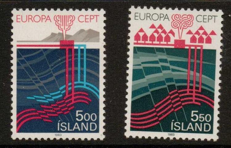 ICELAND SG628/9 1983 EUROPA MNH