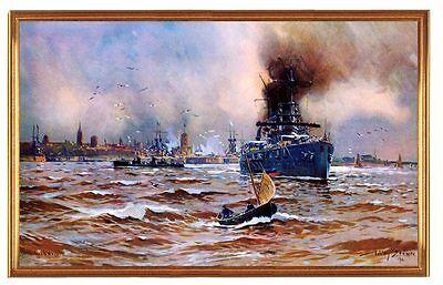 Deutsches Reich Wilhelmshaven Hafen Gemälde Stöwer 9 LW