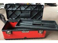 Red Stanley Metal Tool Box