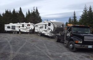 R&D Towing & Recovery trailer towing.