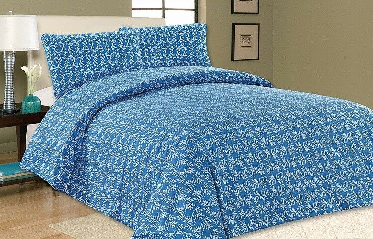 Blue Orchard Gardens Super King Size, Super King Bedding Set Blue