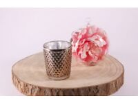 20 9cm rose/copper votives for flowers or candles