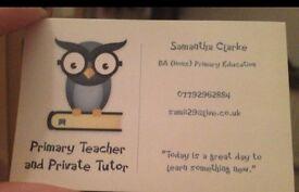Primary School Age Private Tutor