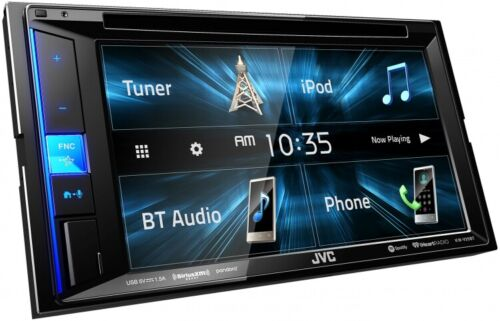 """NEW JVC KW-V25BT 6.2"""" Touchscreen Double Din BLUETOOTH DVD Player Car Stereo"""