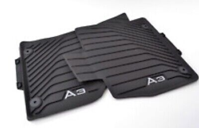 2015-2019 Audi A3, All Weather Rubber Mats, Black, Set Of 4, Front And Rear, OEM Audi A3 Rear Mat