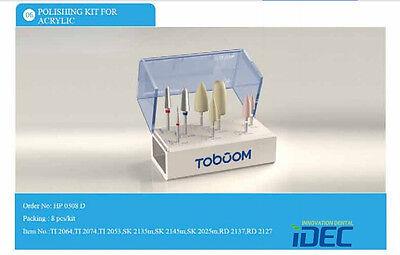 Dental Burs Polishing Bur Kit For Acrylic Hp0308d 9pcskit