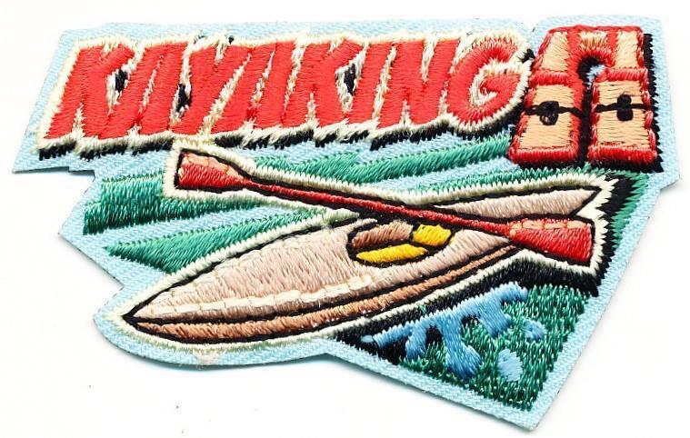 Girl Boy Cub KAYAKING Kayak Fun Patches Crests Badges SCOUT GUIDE Day Paddling