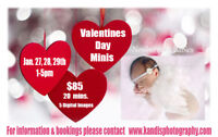Valentines Day Minis! Only $85 for 5 edited photos!!