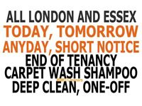 Short Notice Comprehensive Deep Move-in Move-out Cleaning Steam Carpet Wash, End of Tenancy Cleaners