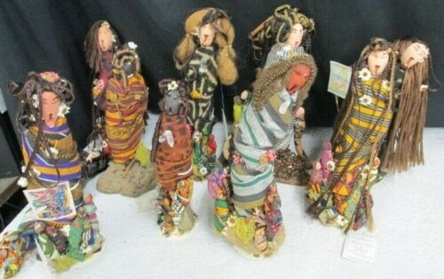"""10 pound lot of Mischa """"The African Collection"""" Handmade Dolls serengetti africa"""