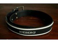 "Iceberg repeat logo belt • size 90cm/35"" • VGC"
