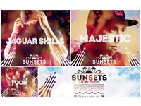 2 x Tickets for Bournemouth Sunsets On The Beach - Saturday 20th August