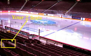 Capitals and Canucks… 2 Seats close to the Bench