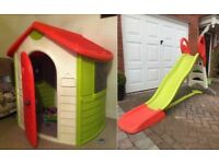 Smoby Playhouse and Smoby XL Slide