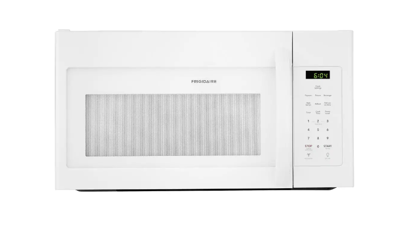 White Microwave Frigidaire 1.6 ct ft Over The Range Home App