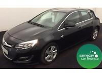 £157.37 PER MONTH BLACK 2013 VAUXHALL ASTRA 2.0 SRI 5 DOOR DIESEL AUTOMATIC