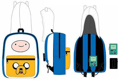 Adventure Time Finn Jake Suit Up with BMO Case Hood School Backpack Bag Costume (Finn Jake Costume)