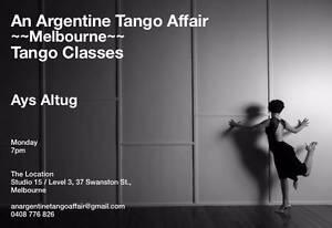 Every Monday Tango Classes for in CBD at 7pm ($15) Melbourne CBD Melbourne City Preview