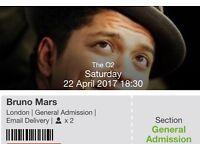 BRUNO MARS o2 TICKETS