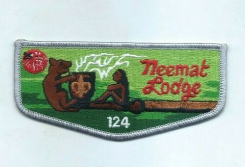 """New Rare """"Neemat Lodge 124 Flap 25th Anniversary OA Boy Scouts Patch"""" Mint Cond"""