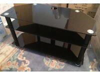 Glass corner tv unit stand