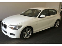 White BMW 120d M Sport Auto 2.0 2014 5 door Low Tax FROM £62 PER WEEK!