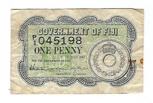 Fiji - One (1) Penny, 1942