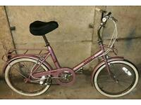 Raleigh shopper pink 3 speed great condition
